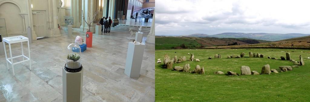 Accrochage De Mineralis à Paris et cercle de pierres néolithique de Swinside, Angleterre